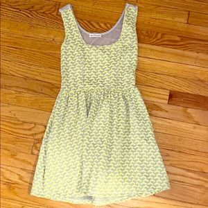 Small Lime Green and Gray Patterned Dress